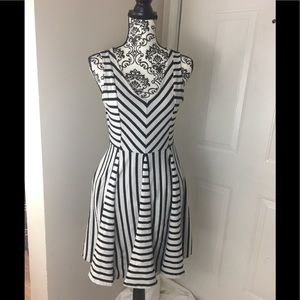 Anthropologie Striped A-line Dress